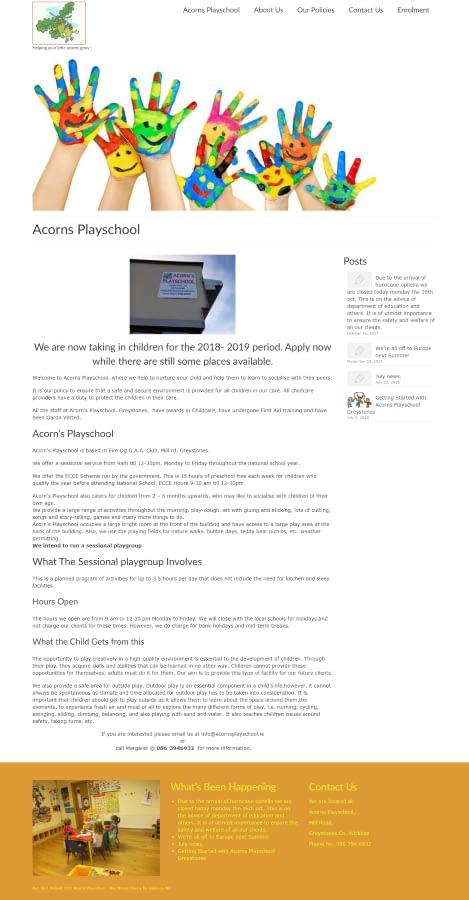 Acorns Playschool Greystones 900