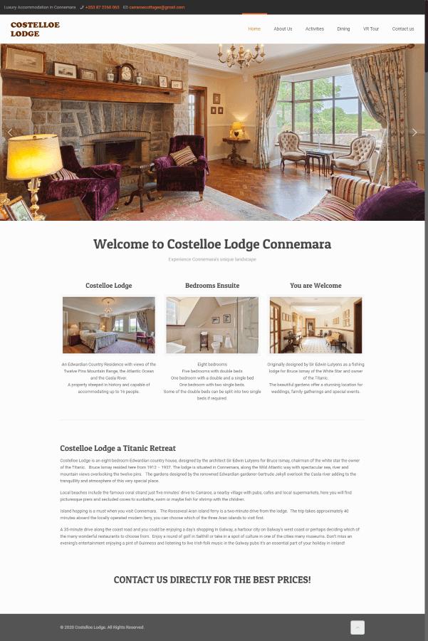 Connemara Luxury Rental five star Costelloe Lodge 900
